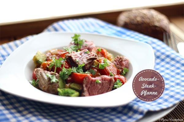 Avocado-Steak-Pfanne