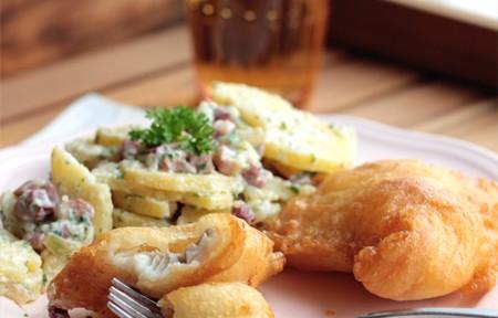 Backfisch mit Omas Kartoffelsalat