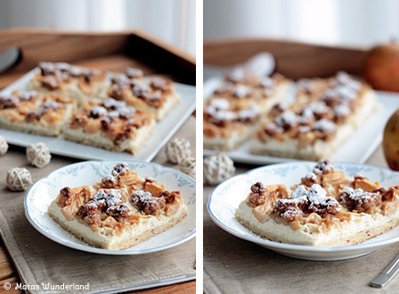 Apfel-Quark-Kuchen mit Streuseln