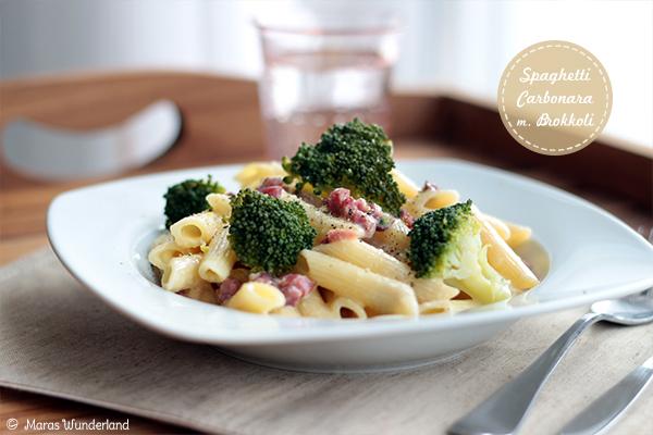Spaghetti Carbonara mit Brokkoli