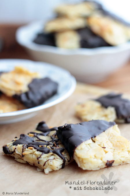 Mandel-Florentiner mit Schokolade