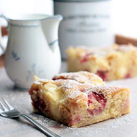 Erdbeer-Puddingkuchen