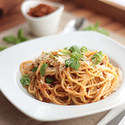 Spaghetti mit Tomatenpesto