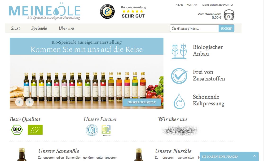 Website von MeineÖle