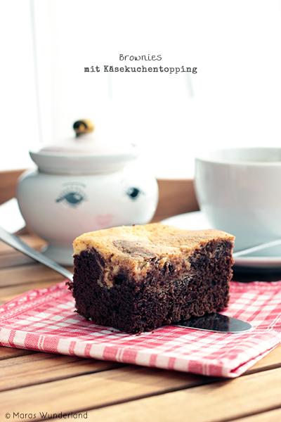 Brownies mit Käsekuchentopping
