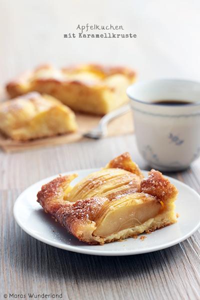 Apfelkuchen mit Karamellkruste