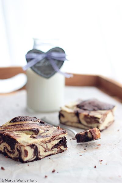 Brownie Kasekuchen