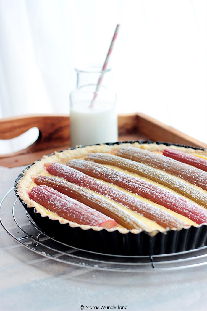 Rezept für eine Rhabarber-Pudding-Tarte