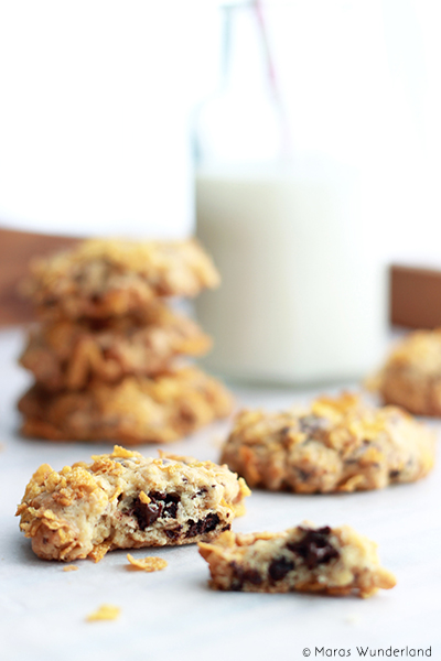 Schoko-Cornflakes-Cookies