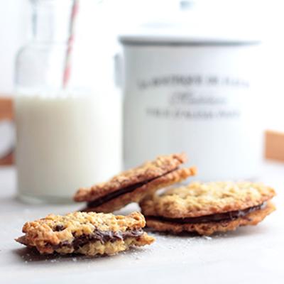 Haferflockencookies mit Schoki & Nutella