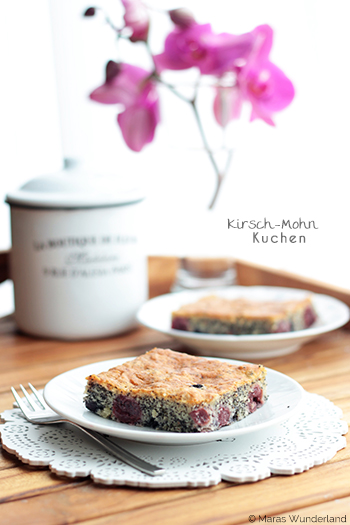Kirsch-Mohnkuchen