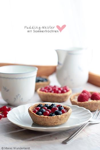 Fruchtige Puddingnester