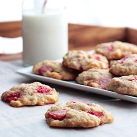 Erdbeer-Zitronen-Cookies