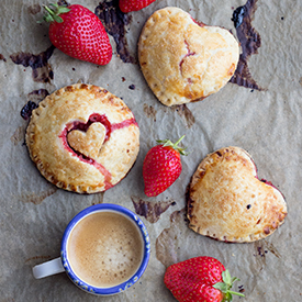Erdbeer-Handpies