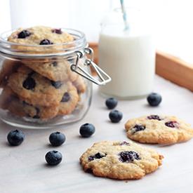 Heidelbeer-Kokos-Cookies