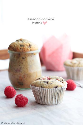 Himbeer-Schoko-Muffins