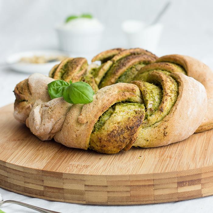 Pesto-Brot-Kranz