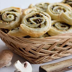 Pilz-Zucchini-Schnecken