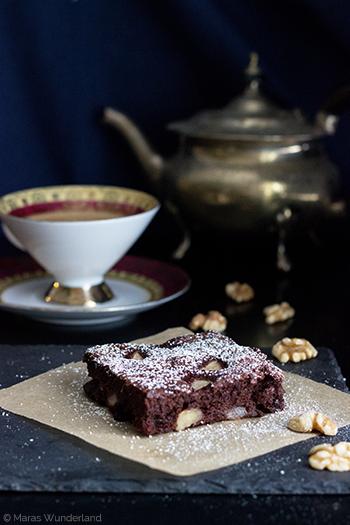 Birnen-Walnuss-Brownies