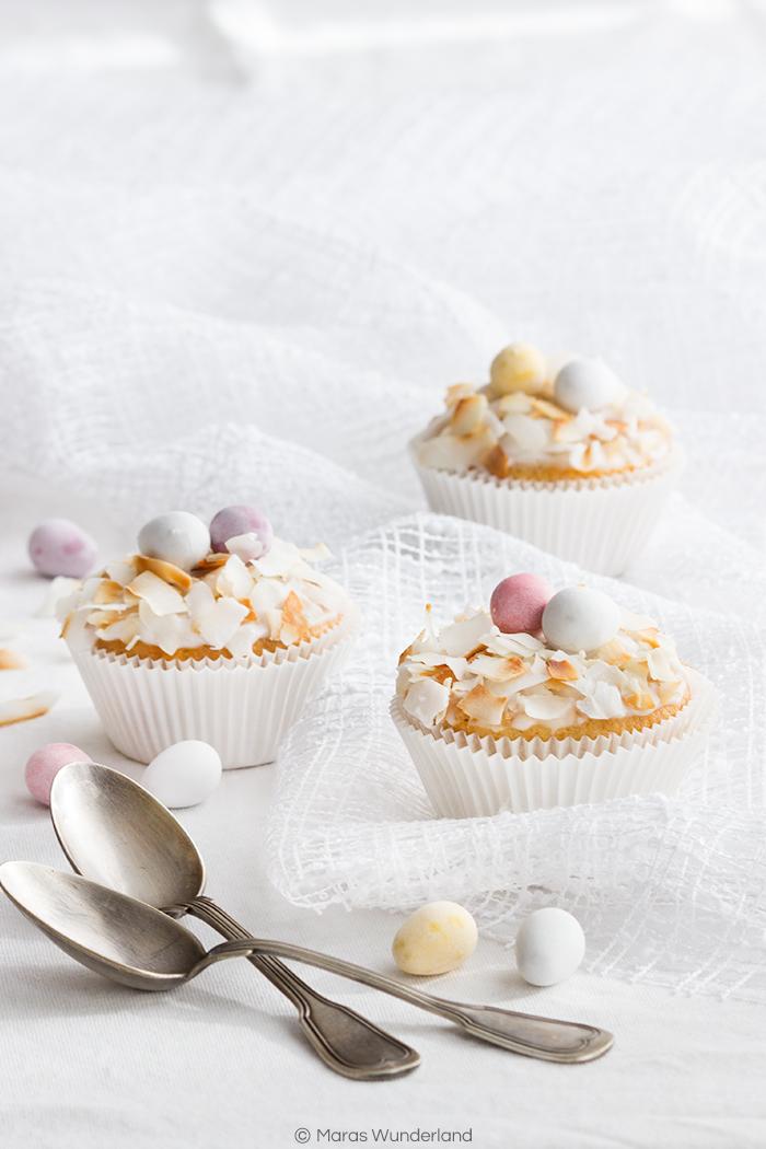 Österliche Zitronencupcakes