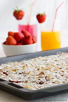 Erdbeer-Nektarinen-Kuchen vom Blech