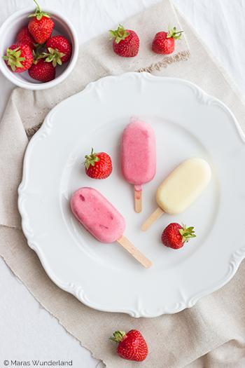 Erdbeer & Mango Eis am Stiel