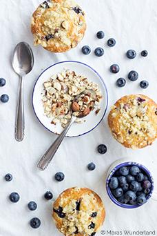 Blaubeer-Nuss-Muffins