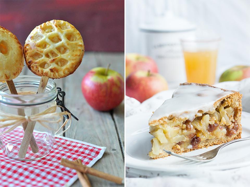 Sara: Apple-Pie-Pops, Mara: gedeckter Apfelkuchen