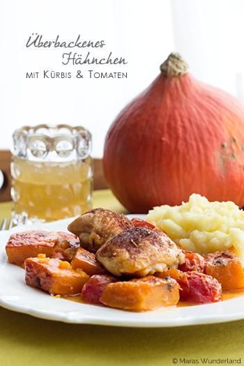 Überbackenes Hähnchen mit Kürbis & Tomaten