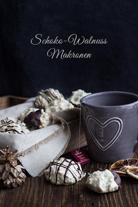 Schoko-Walnuss-Makronen
