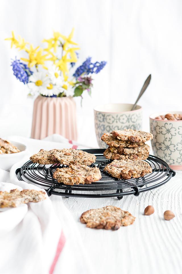 Bananen-Haferflocken-Cookies