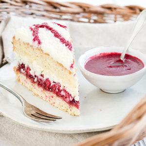 Himbeer-Kokos-Torte