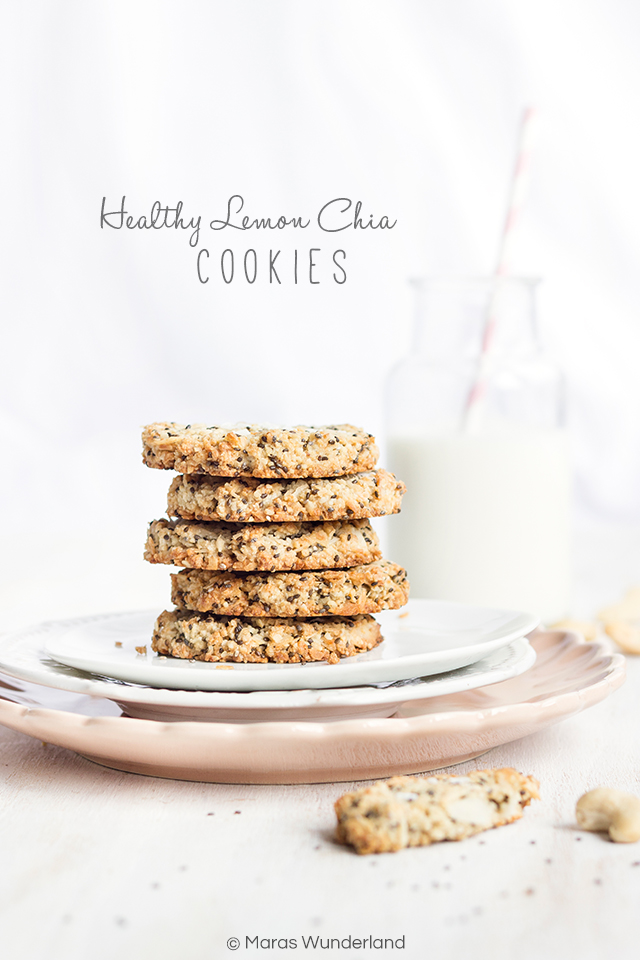 Healthy Lemon Chia Cookies