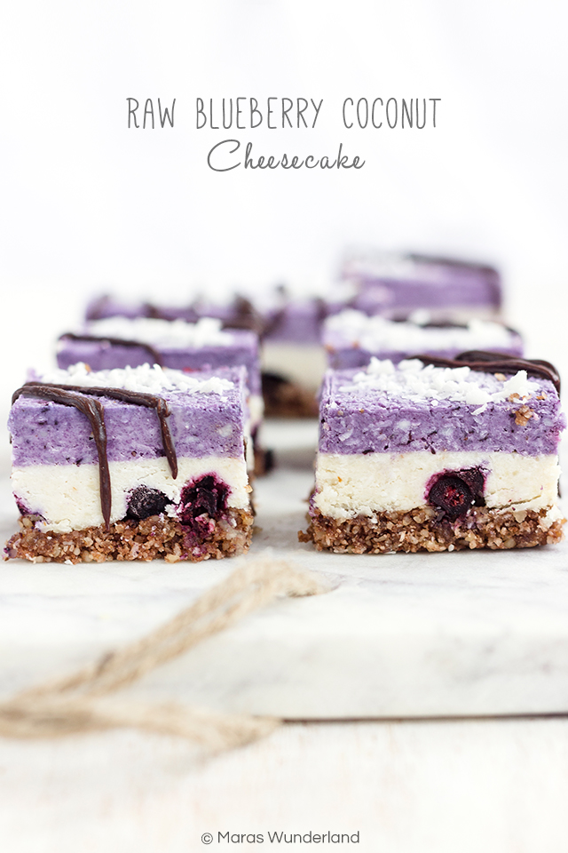 Raw Blueberry Coconut Cheesecake