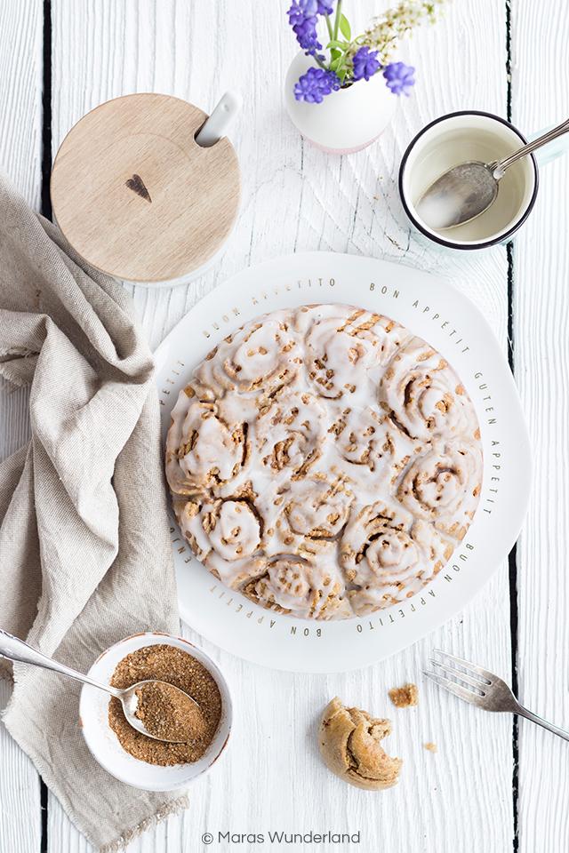 Gesunder Zimtschnecken-Kuchen