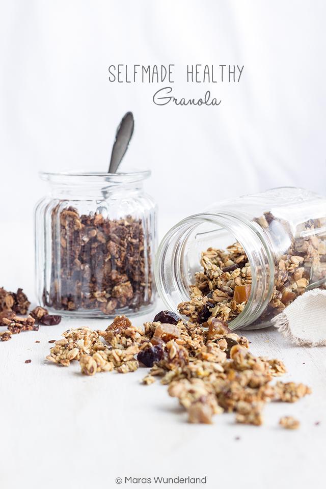 Selbstgemachte, gesunde Granola