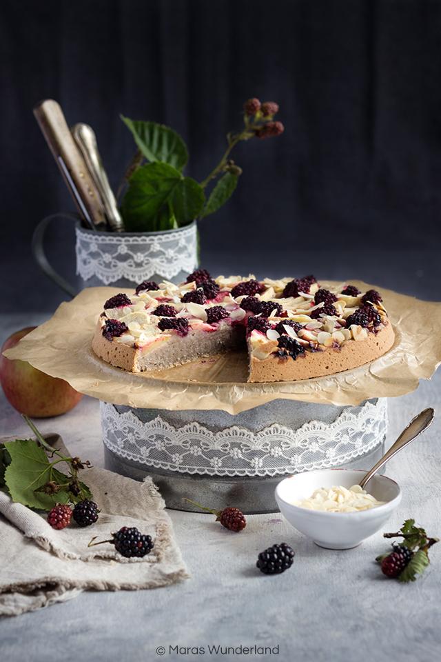 gesunder Brombeer-Apfelkuchen