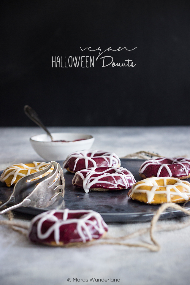 vegane Halloween Donuts
