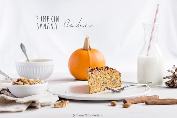 Kürbis-Bananenkuchen mit Xylit