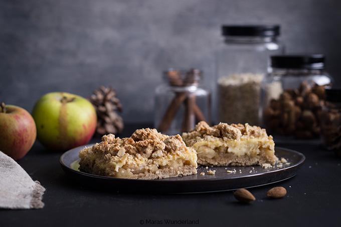 veganer Apfel-Pudding-Streuselkuchen