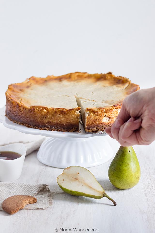 Clean Baking Birnen-Käsekuchen