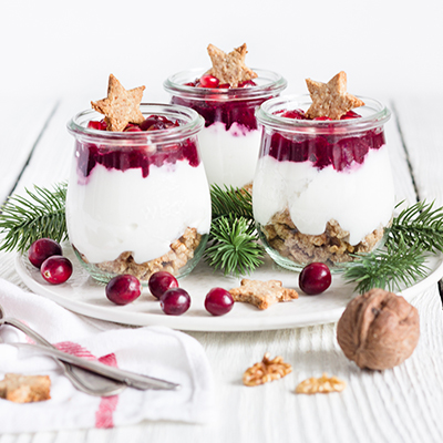 Cranberry-Kokos-Dessert