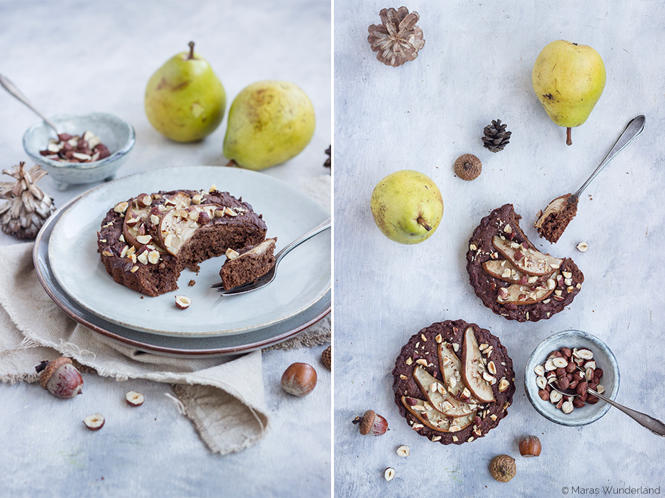 gesunde Birnen-Schoko-Tartelettes