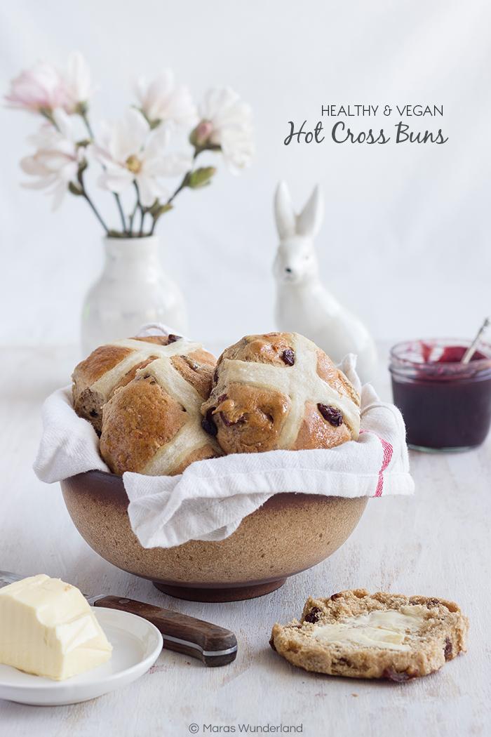 healthy Hot Cross Buns