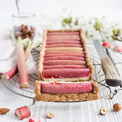 Rhabarber Cheesecake Tarte