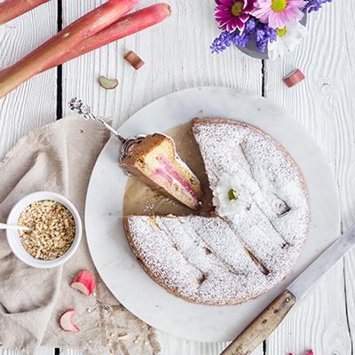 Rhabarber-Marzipan-Kuchen