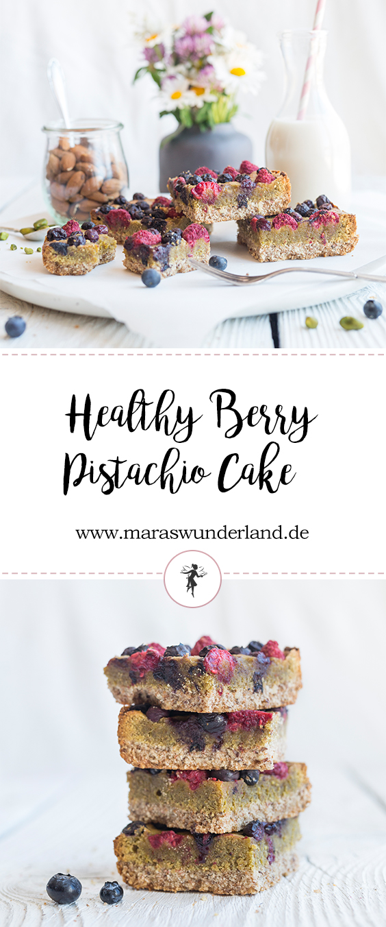 Healthy Berry Pistachio Cake