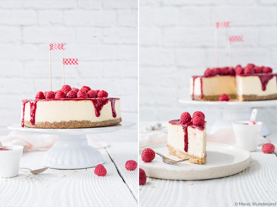 Klassiker: Himbeer New York Cheesecake