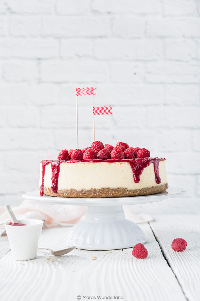 Klassiker: Himbeer New York Cheesecake