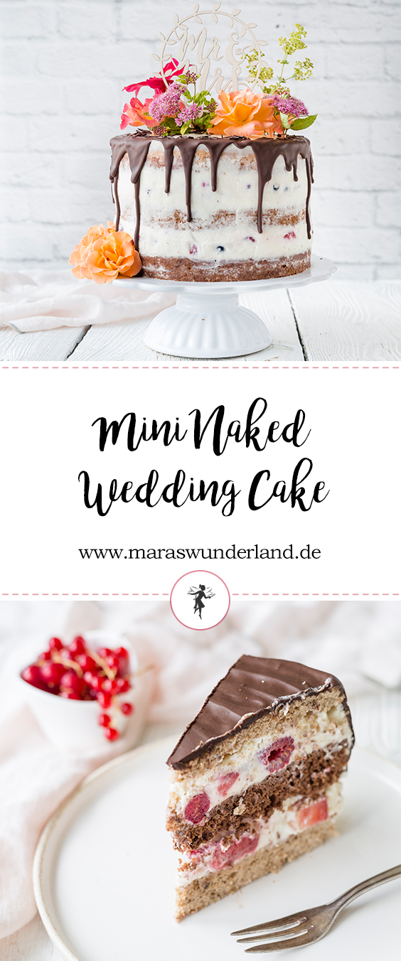 Mini naked Wedding cake with Summer Berries • from Maras Wunderland